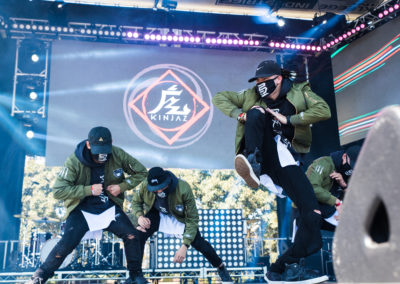 ABDC dance group Kinjaz show off their moves at the North Stage at Sun God Festival 2017 (Photo by Daniela Aquino)