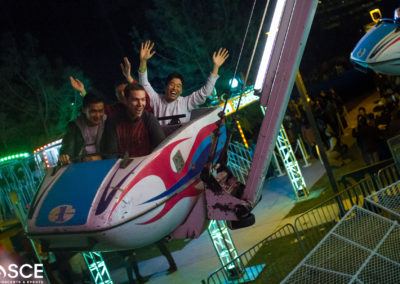Thrill-seeking students love the variety of rides