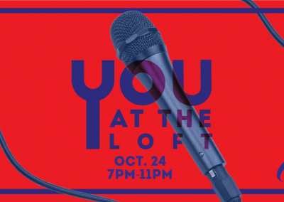 "<h3>You At The Loft #1</h3>10/24/2018 | 7 PM – 11 PM | The Loft | <a href=""https://www.facebook.com/events/343112892922299/"" target=""_blank"">Facebook page</a><br><br>""The quarterly open-mic night brought to you by UCSD AS Concerts & Events.""<br><br>Take your Wednesday night slow by winding down and appreciating your local campus talent. There will also be free flatbread pizza and fries, brought to you by Zanzibar at the Loft!"
