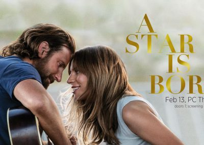 "<h3>ASCE Cinema: A Star Is Born</h3>2/13/2019 | 7 PM - 10 PM | PC Theater | <a href=""https://www.facebook.com/events/600660887028932/"" target=""_blank"">Facebook page</a><br><br> Sing along with ASCE during a free screening of A Star Is Born!"